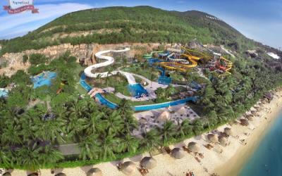 Công viên giải trí Vinpearl Land Nha Trang trên đảo ngọc Hòn Tre.